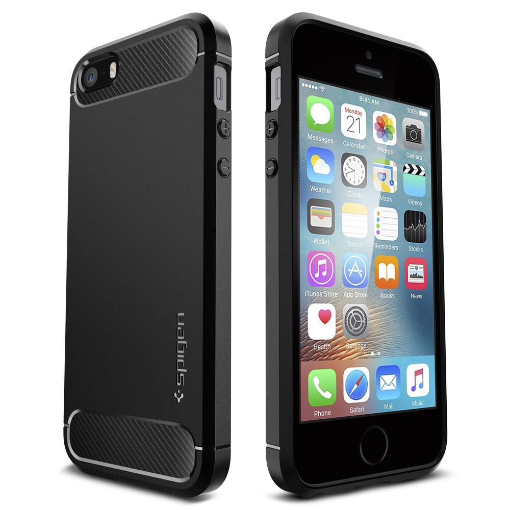 iPhone SE/5S/5 Rugged Armor Case Black