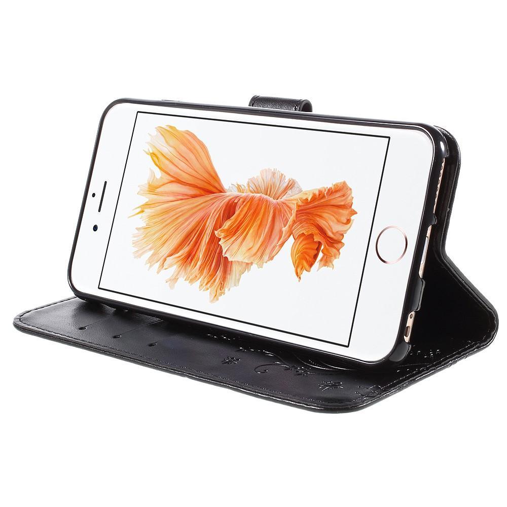 Nahkakotelo Perhonen Apple iPhone 6/6S musta