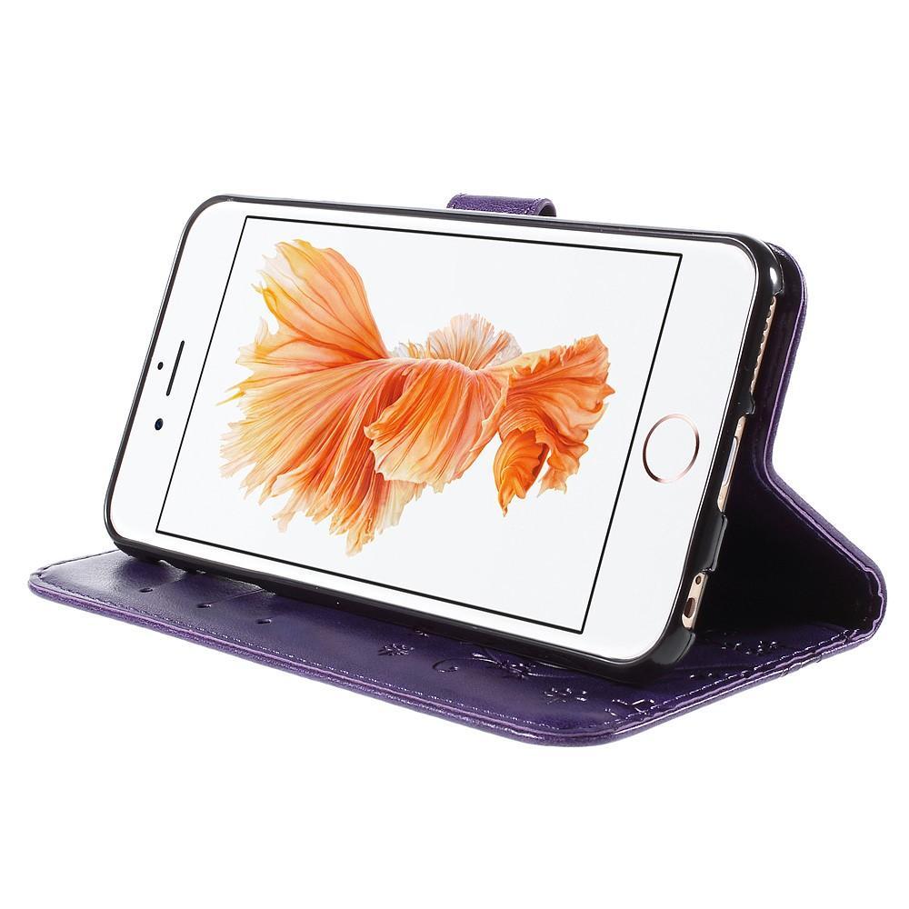 Nahkakotelo Perhonen Apple iPhone 6/6S liila