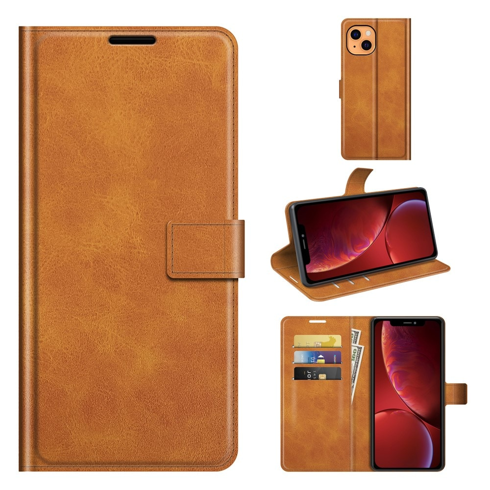 Leather Wallet iPhone 13 Mini Cognac