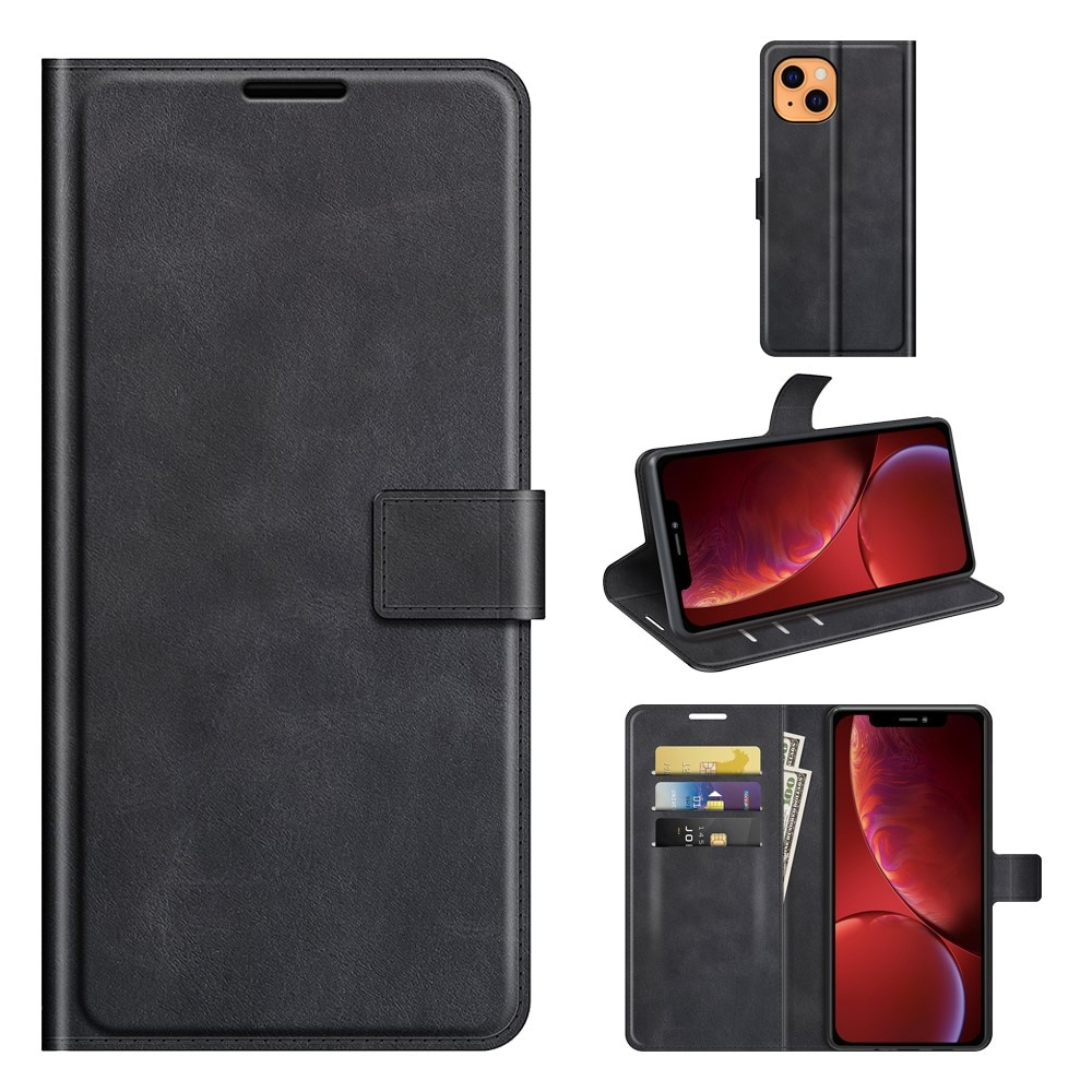 Leather Wallet iPhone 13 Black