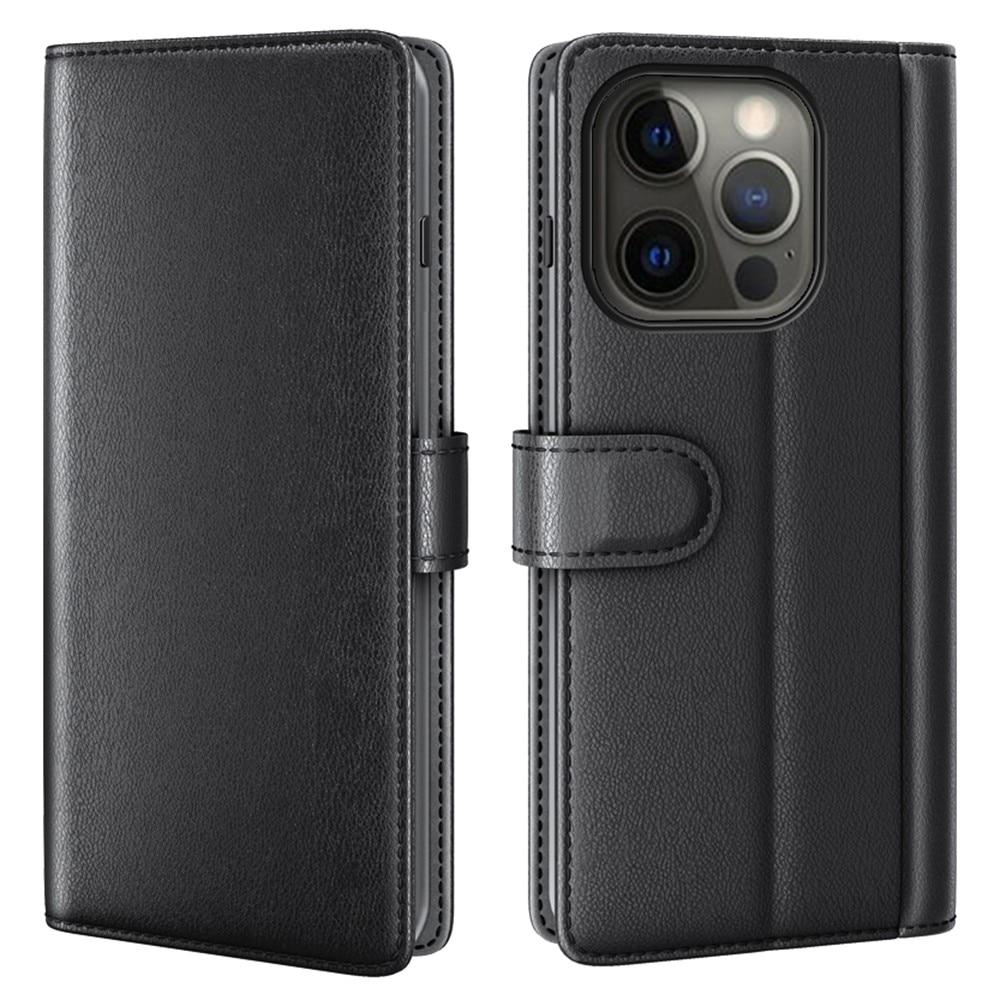 Aito Nahkakotelo iPhone 13 Pro Max musta