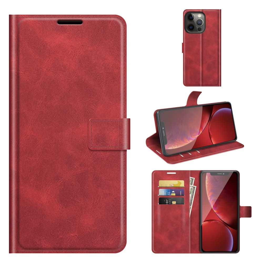 Leather Wallet iPhone 13 Pro Max Red