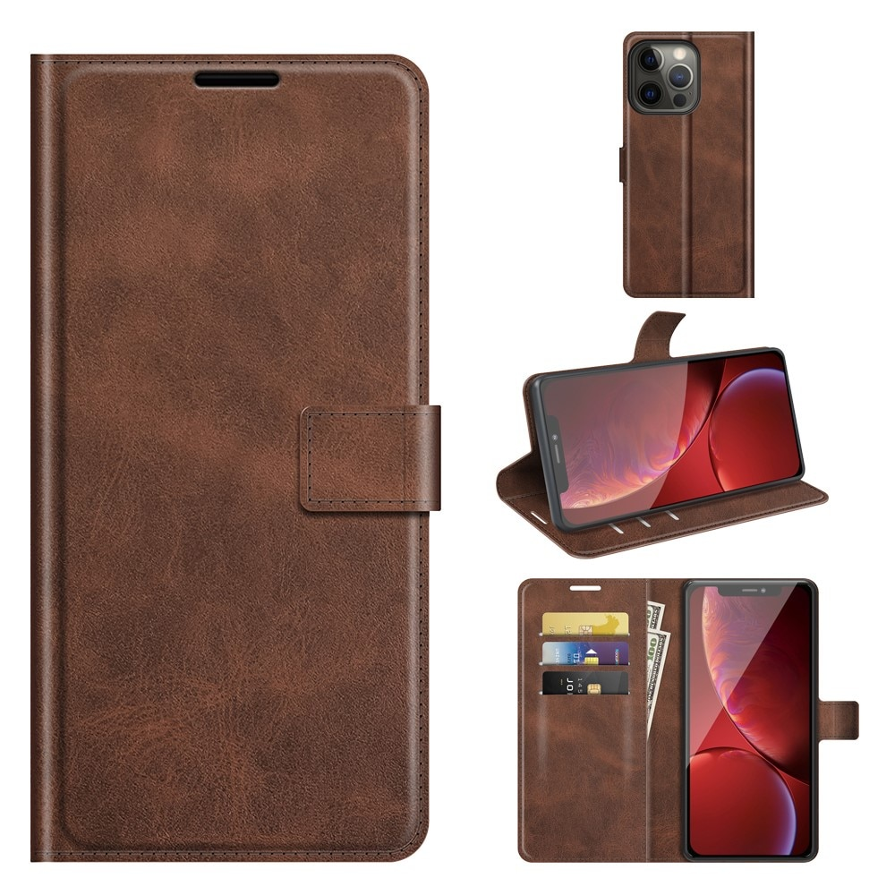 Leather Wallet iPhone 13 Pro Max Brown