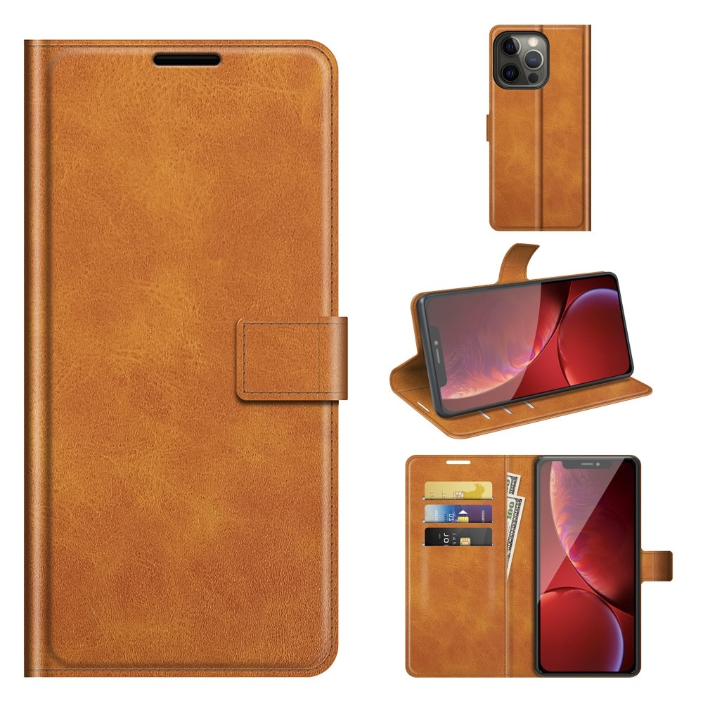 Leather Wallet iPhone 13 Pro Cognac