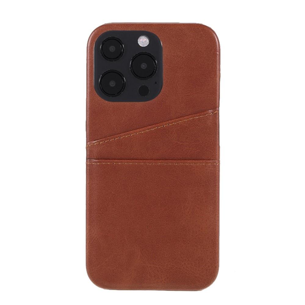 Card Slots Case Apple iPhone 13 Pro Max ruskea