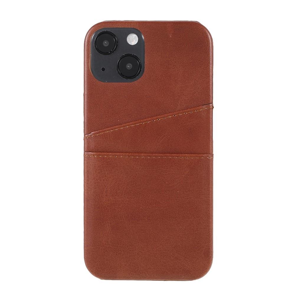 Card Slots Case Apple iPhone 13 Mini ruskea