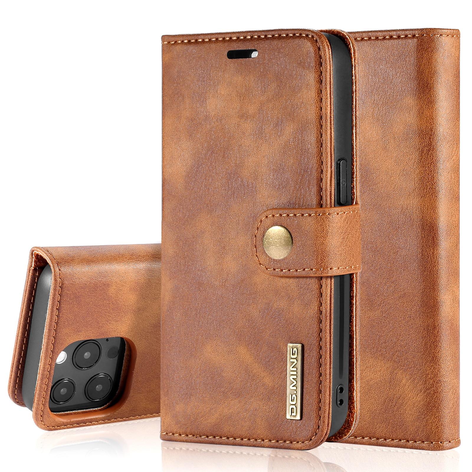 Magnet Wallet iPhone 13 Pro Max Cognac