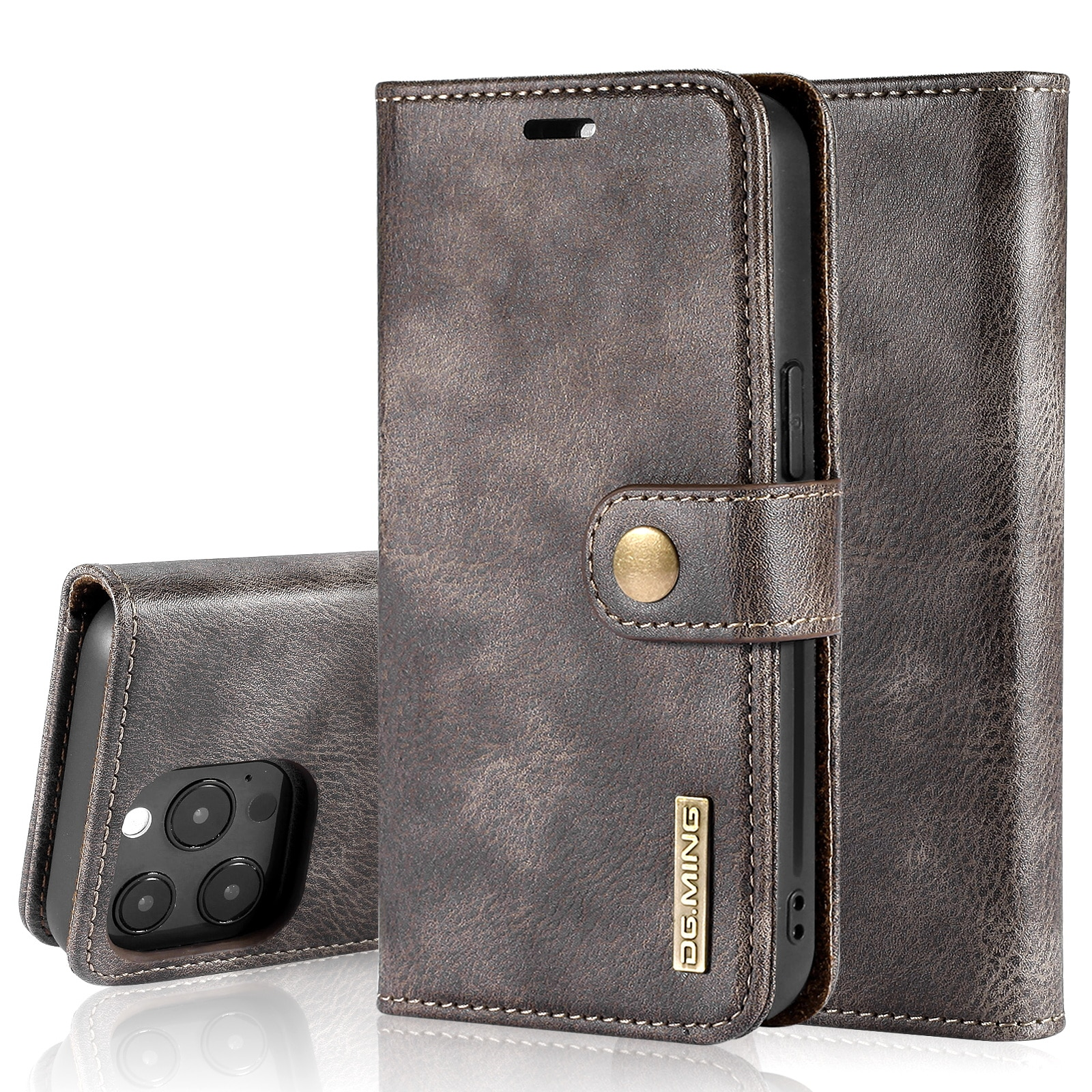 Magnet Wallet iPhone 13 Pro Max Brown