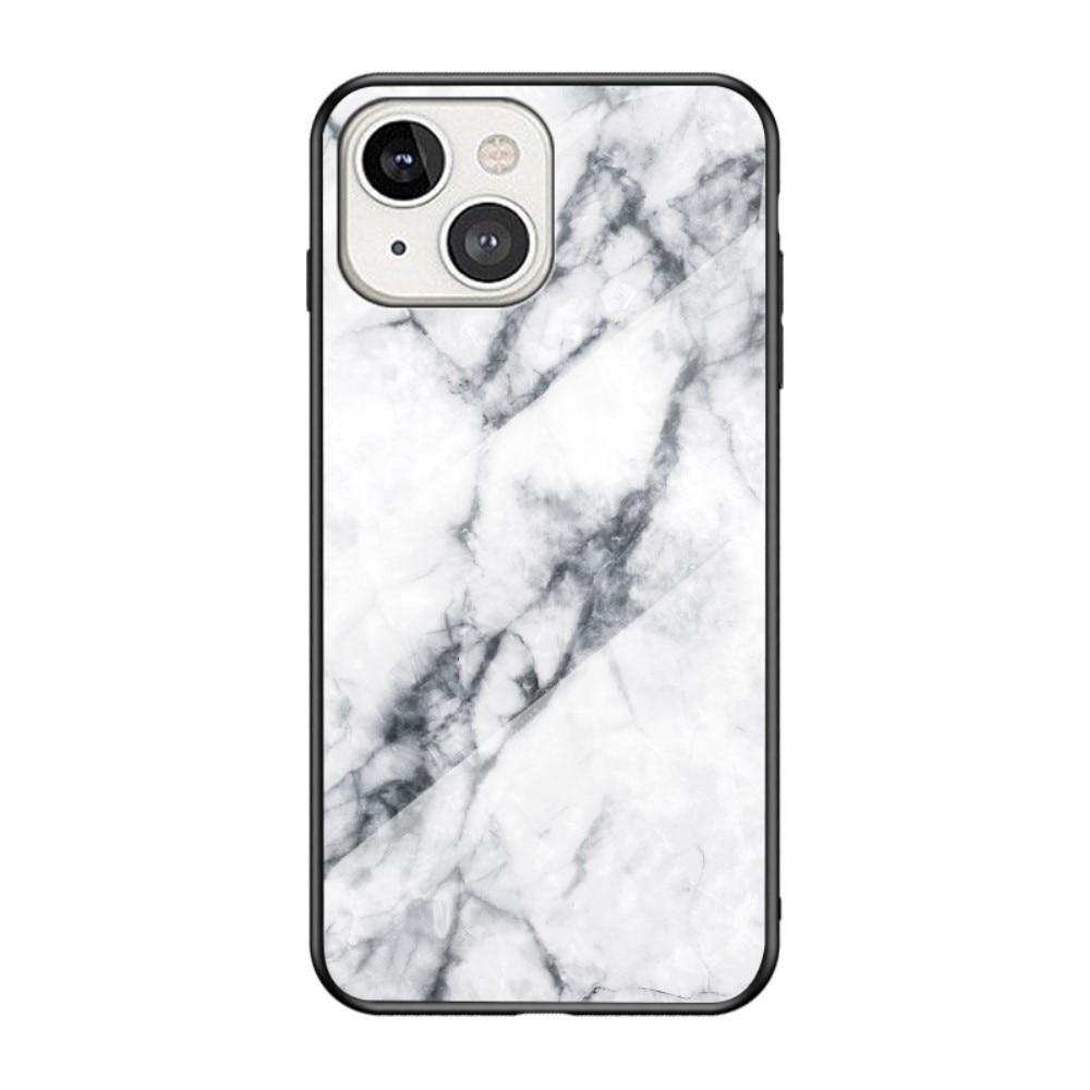 Panssarilasi Kuori Apple iPhone 13 Mini valkoinen marmori
