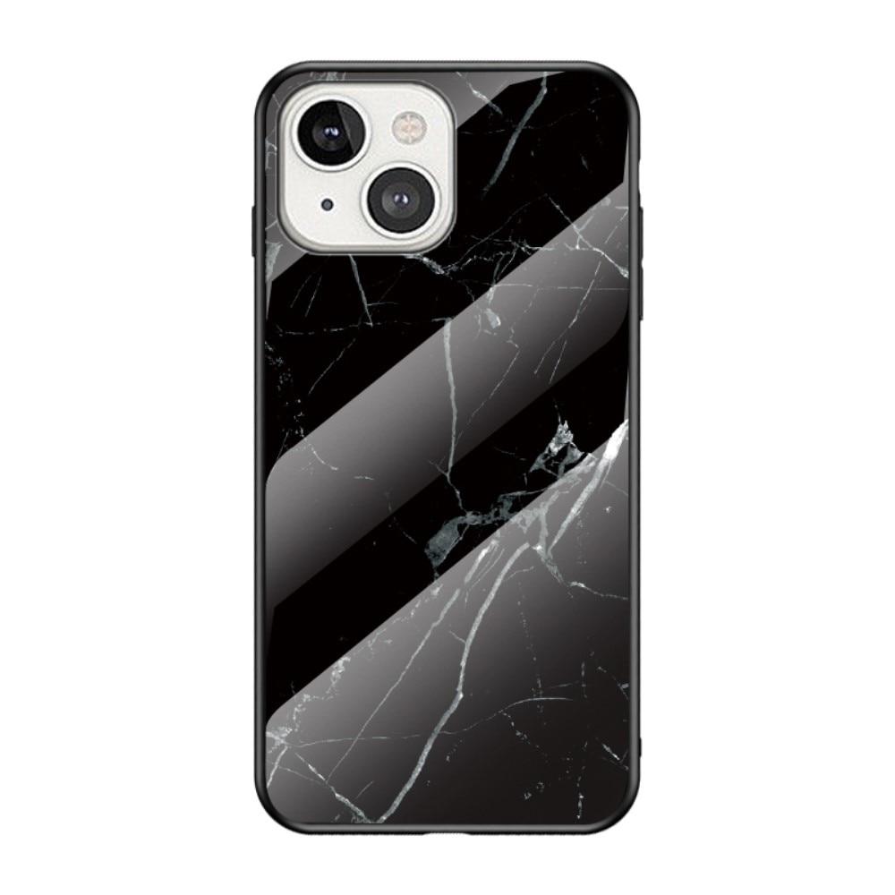 Panssarilasi Kuori Apple iPhone 13 Mini musta marmori