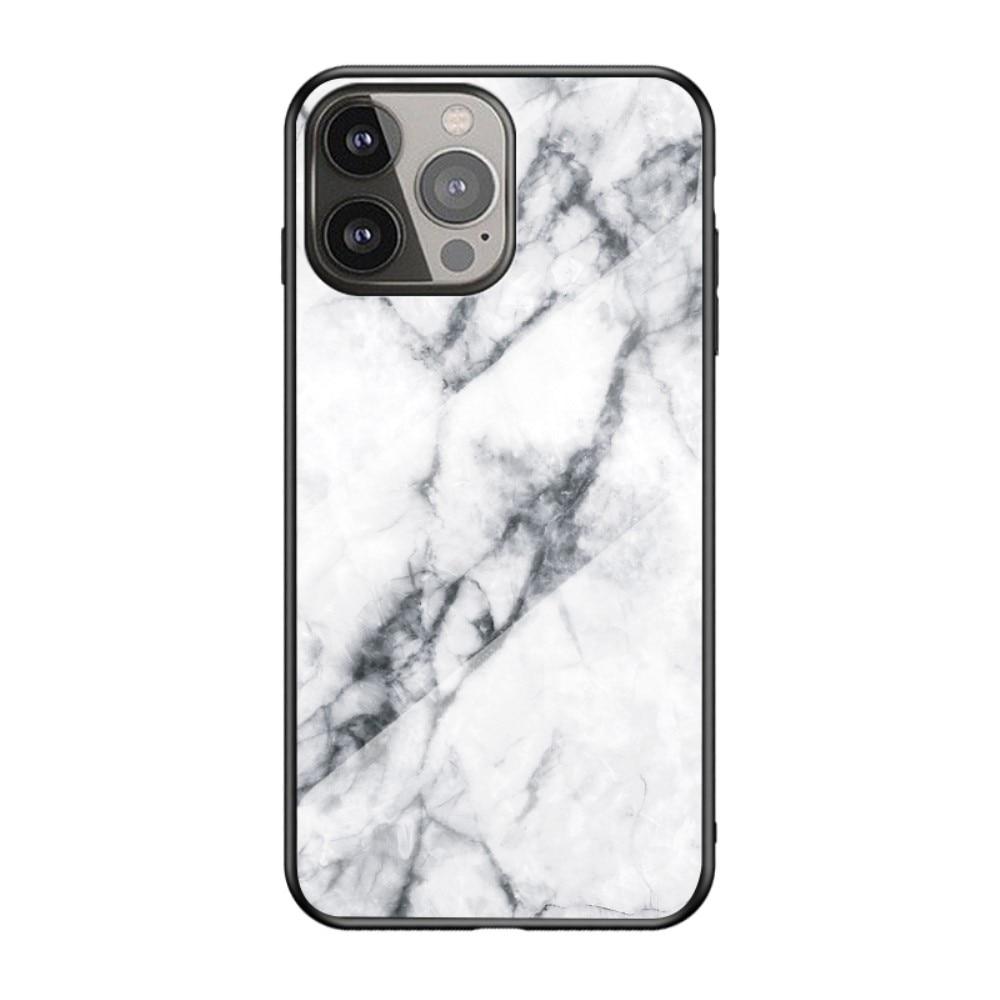 Panssarilasi Kuori Apple iPhone 13 Pro Max valkoinen marmori