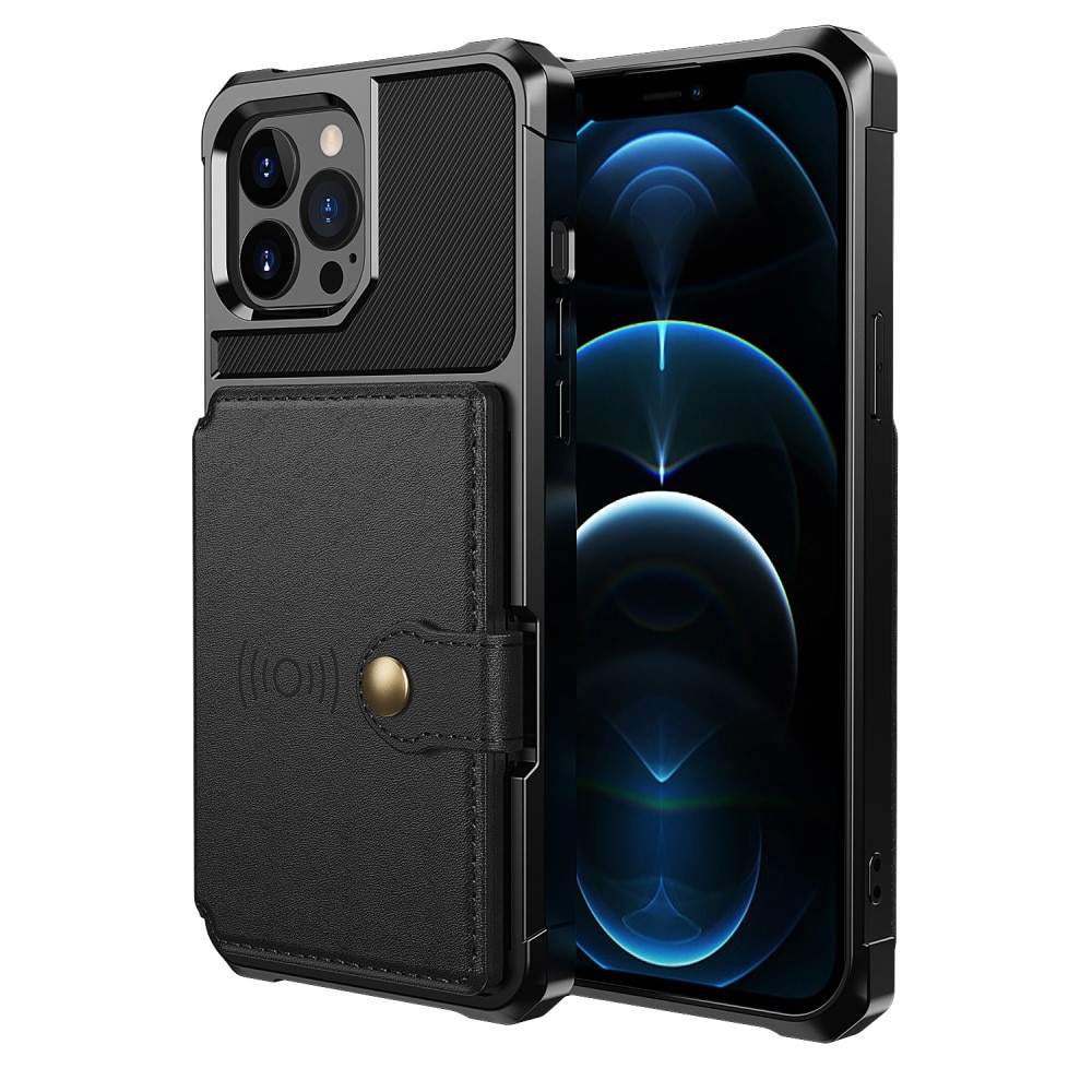 Tough Multi-slot Case iPhone 13 Pro musta