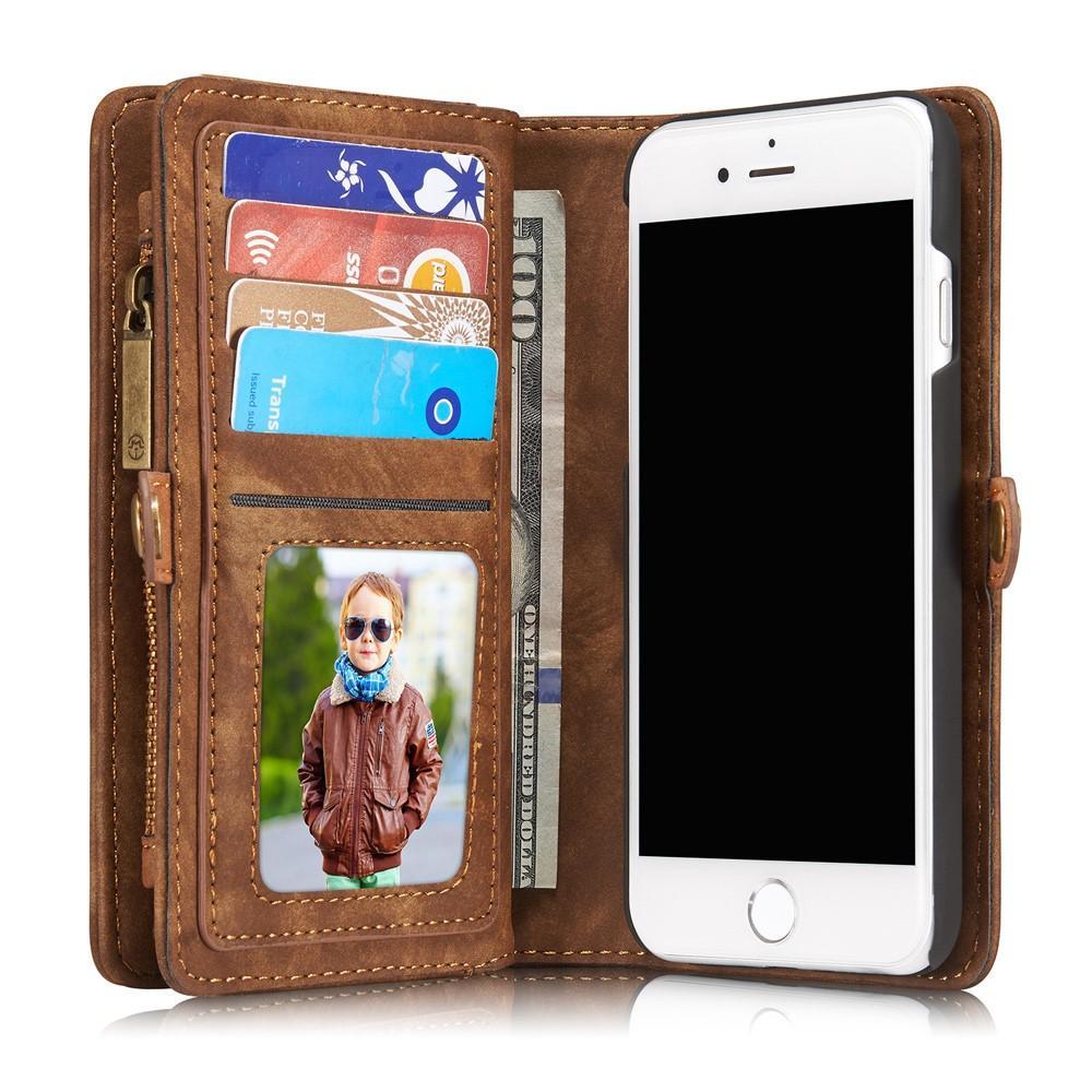 Multi-slot Suojakotelo iPhone 7/8/SE 2020 ruskea