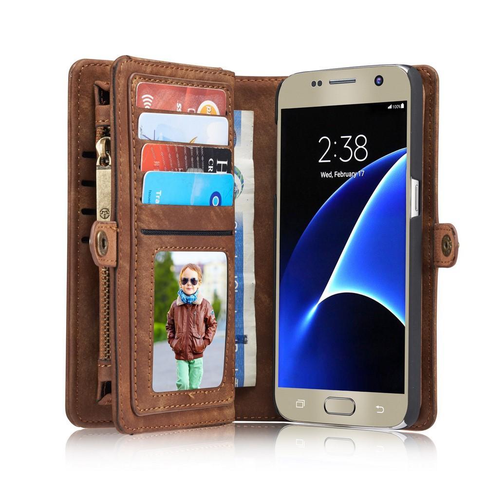 Multi-slot Suojakotelo Galaxy S7 ruskea
