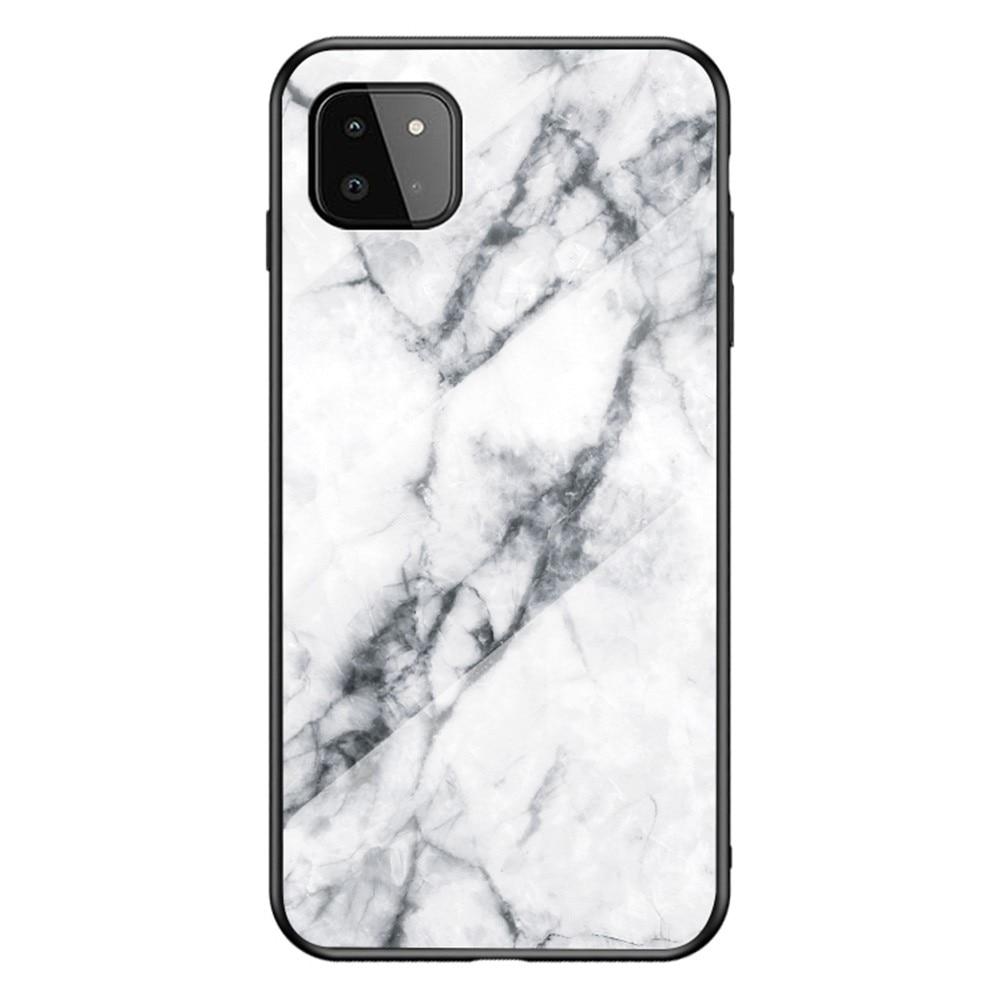 Panssarilasi Kuori Samsung Galaxy A22 5G valkoinen marmori
