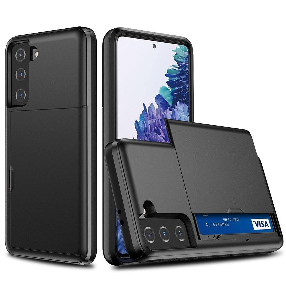 Case Cardslot Samsung Galaxy S21 FE musta