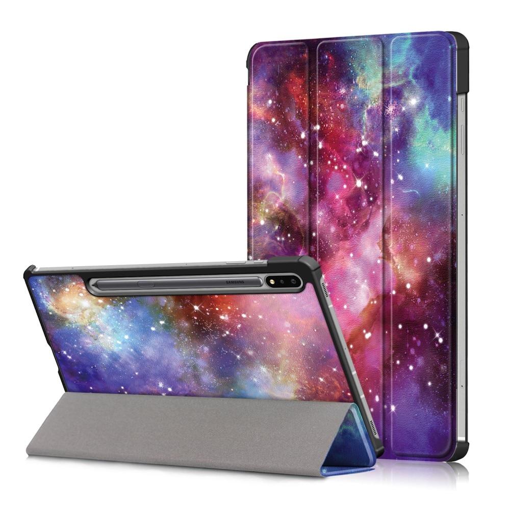 Kotelo Tri-fold Samsung Galaxy Tab S7 FE ulkoavaruus