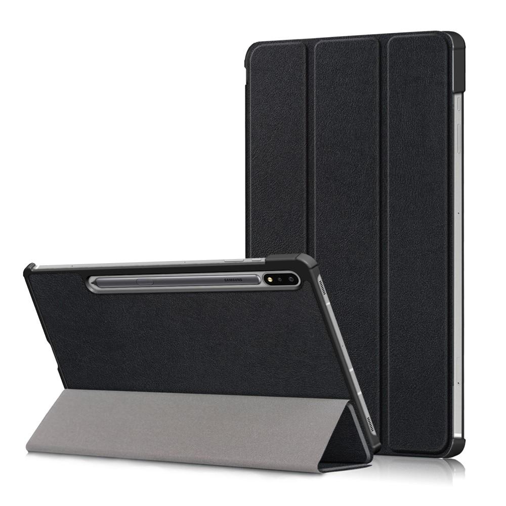 Kotelo Tri-fold Samsung Galaxy Tab S7 FE musta