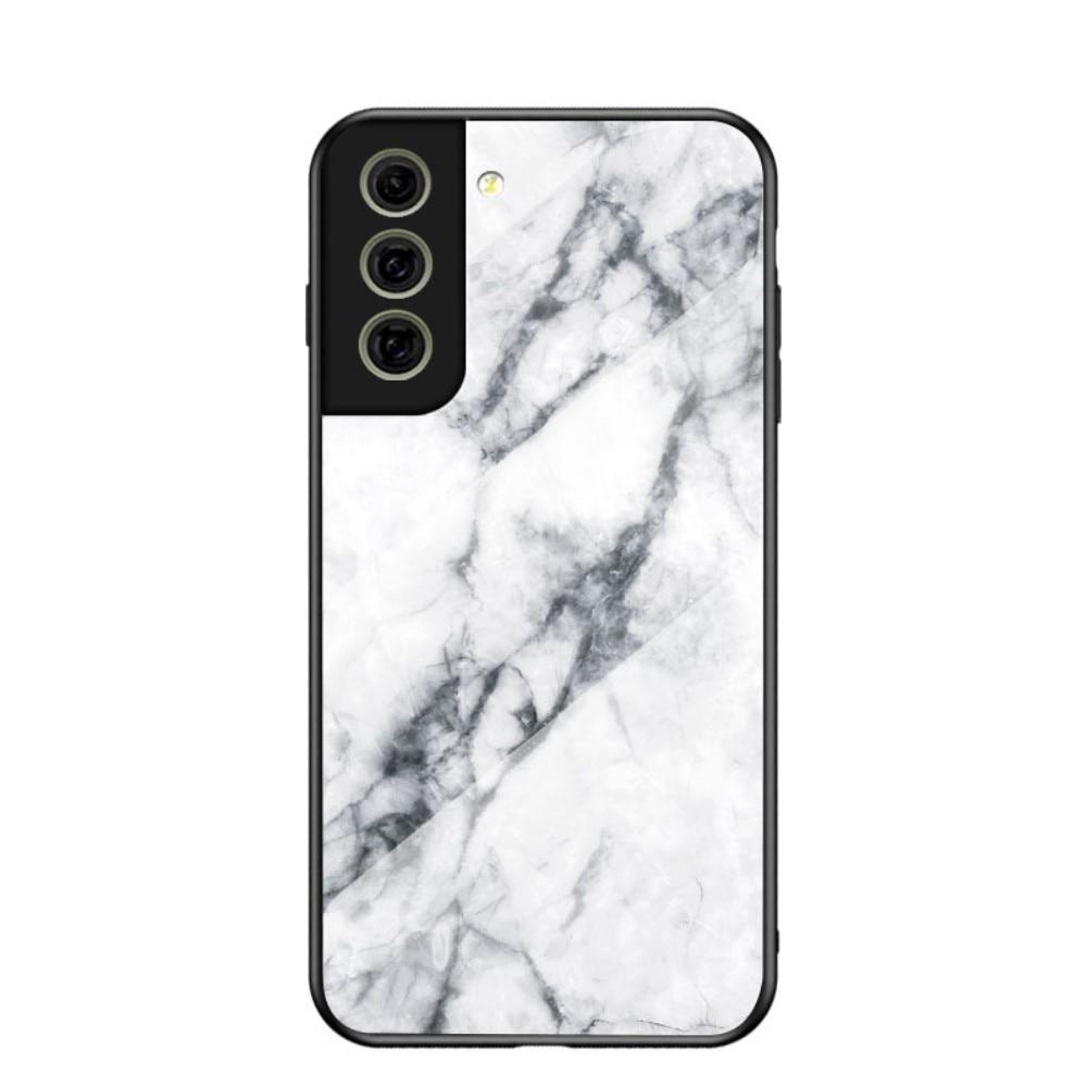 Panssarilasi Kuori Samsung Galaxy S21 FE valkoinen marmori