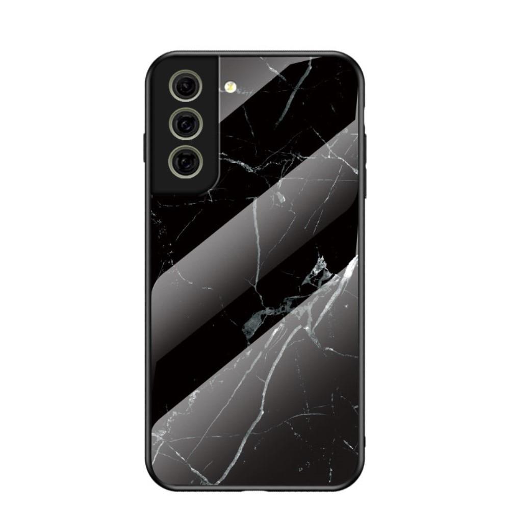 Panssarilasi Kuori Samsung Galaxy S21 FE musta marmori