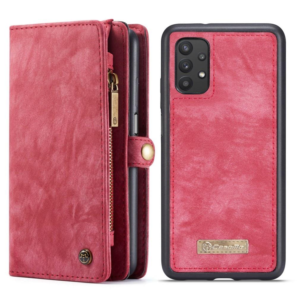 Multi-slot Suojakotelo Samsung Galaxy A32 5G punainen