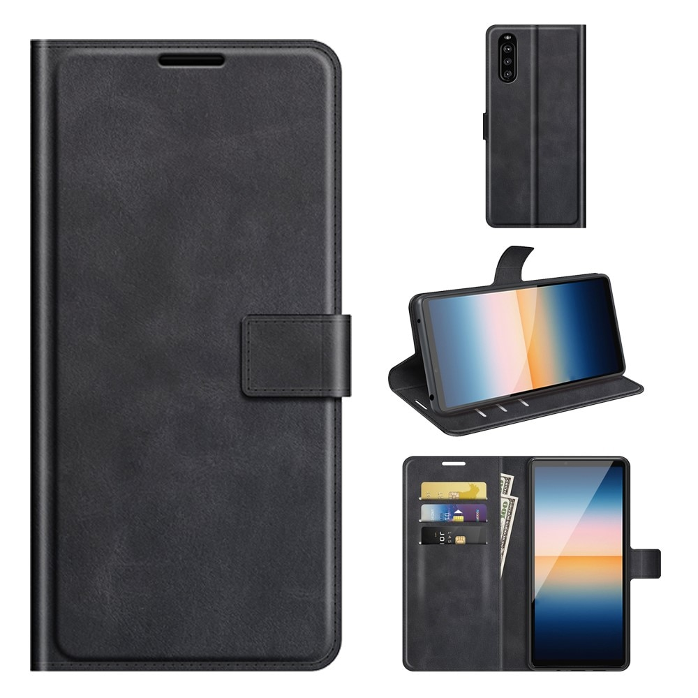 Leather Wallet Sony Xperia 10 III Black