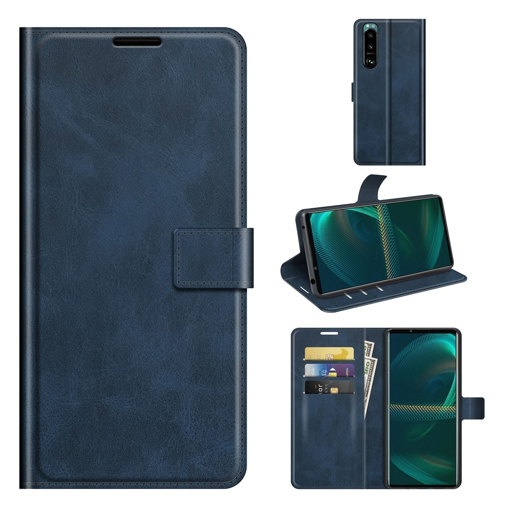 Leather Wallet Sony Xperia 5 III Blue