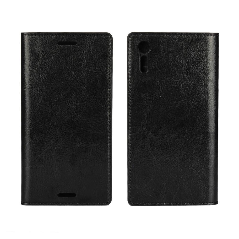 Suojakotelo Aito Nahka Sony Xperia XZ musta