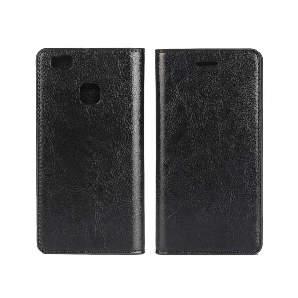Suojakotelo Aito Nahka Huawei P9 Lite musta