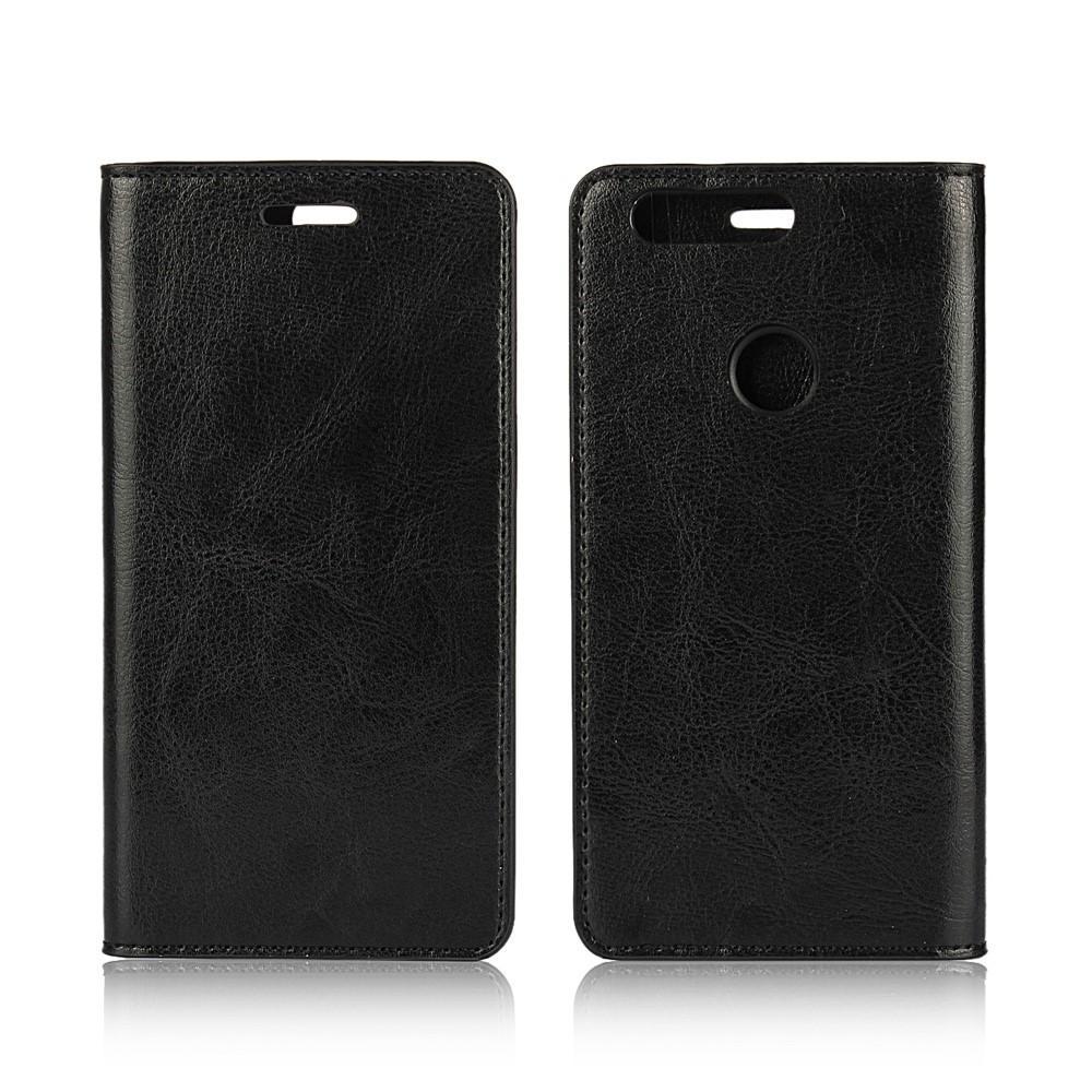 Suojakotelo Aito Nahka Huawei Honor 8 musta