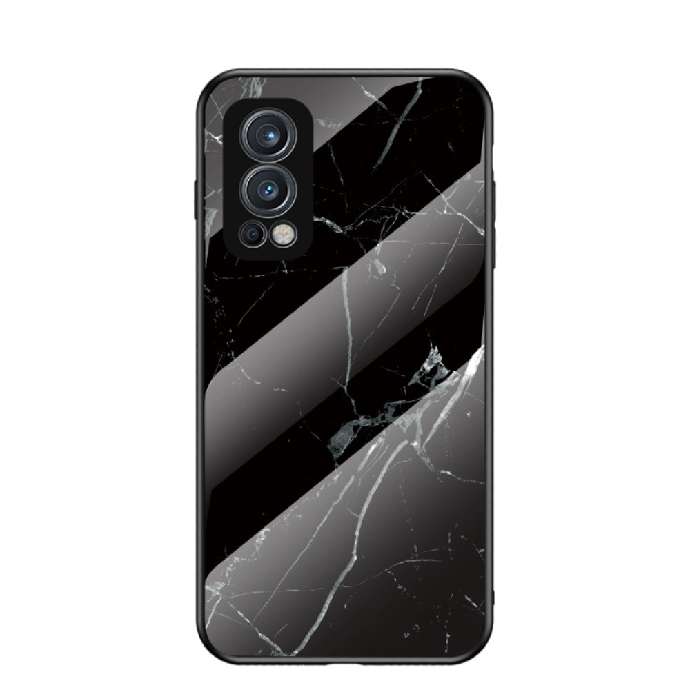 Panssarilasi Kuori OnePlus Nord 2 5G musta marmori
