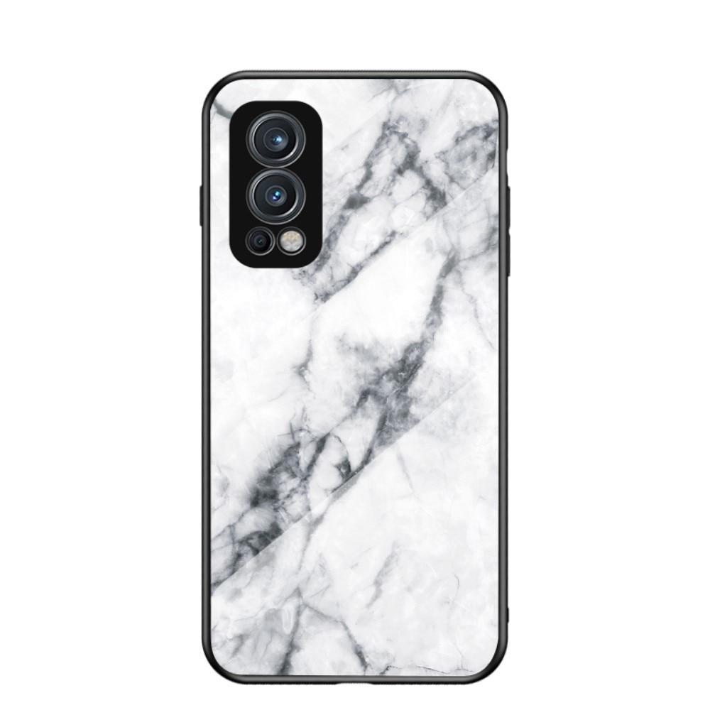 Panssarilasi Kuori OnePlus Nord 2 5G valkoinen marmori