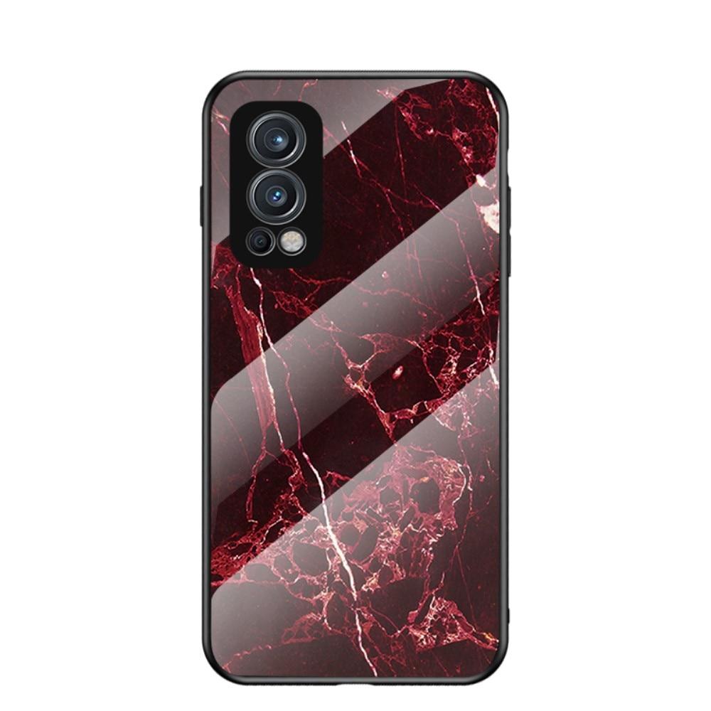 Panssarilasi Kuori OnePlus Nord 2 5G punainen marmori
