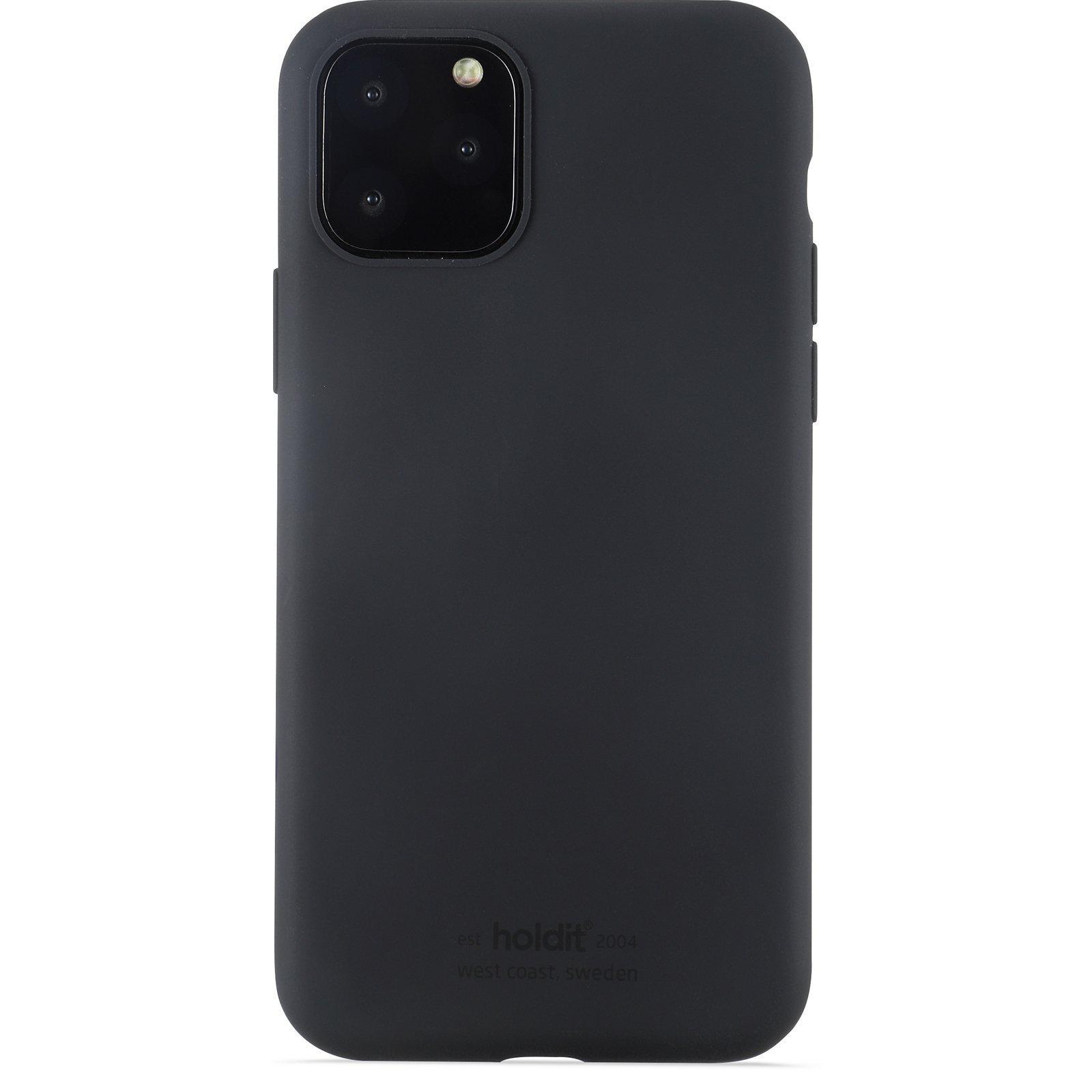 Silikonikuori iPhone 11 Pro/XS/X Musta