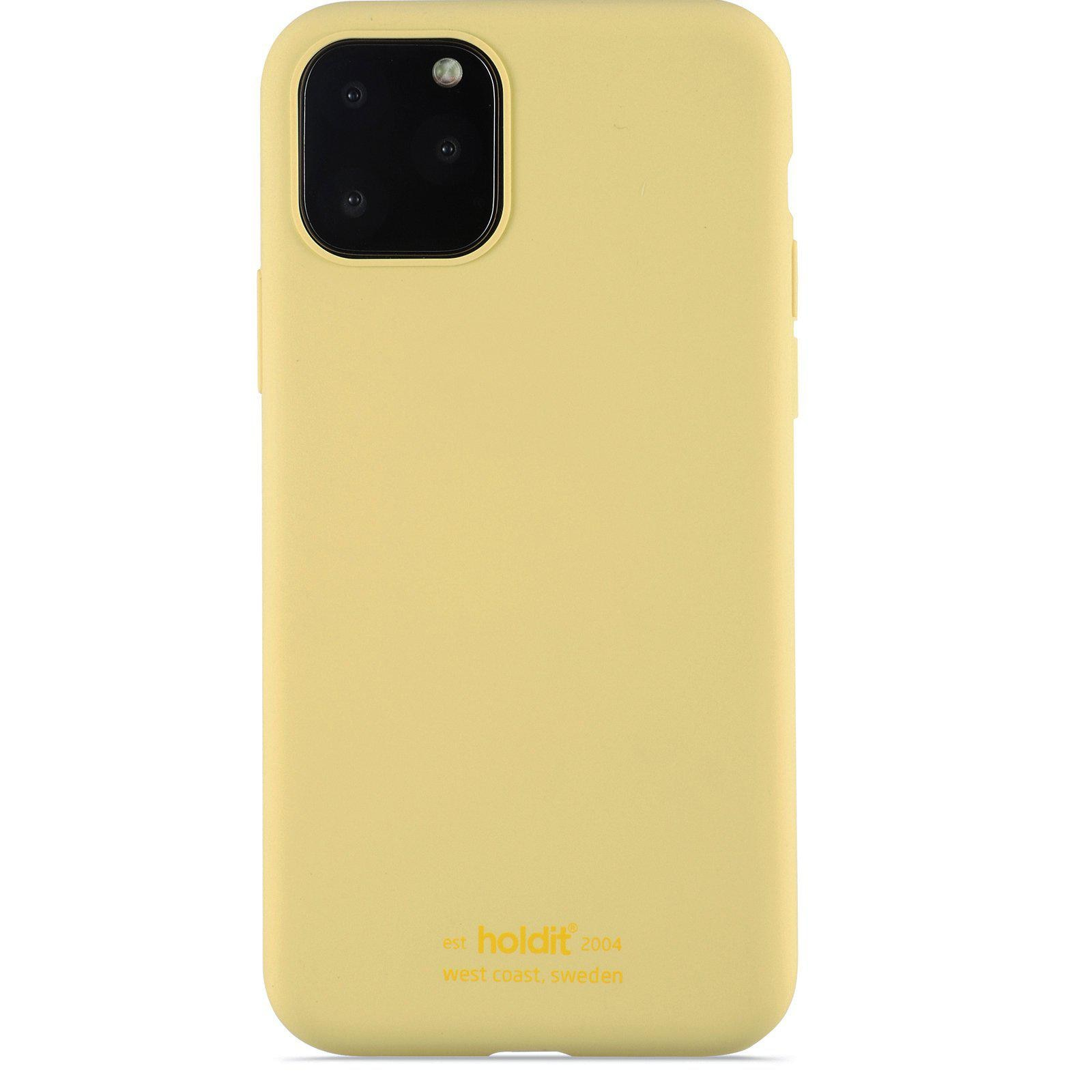 Silikonikuori iPhone 11 Pro/XS/X Yellow