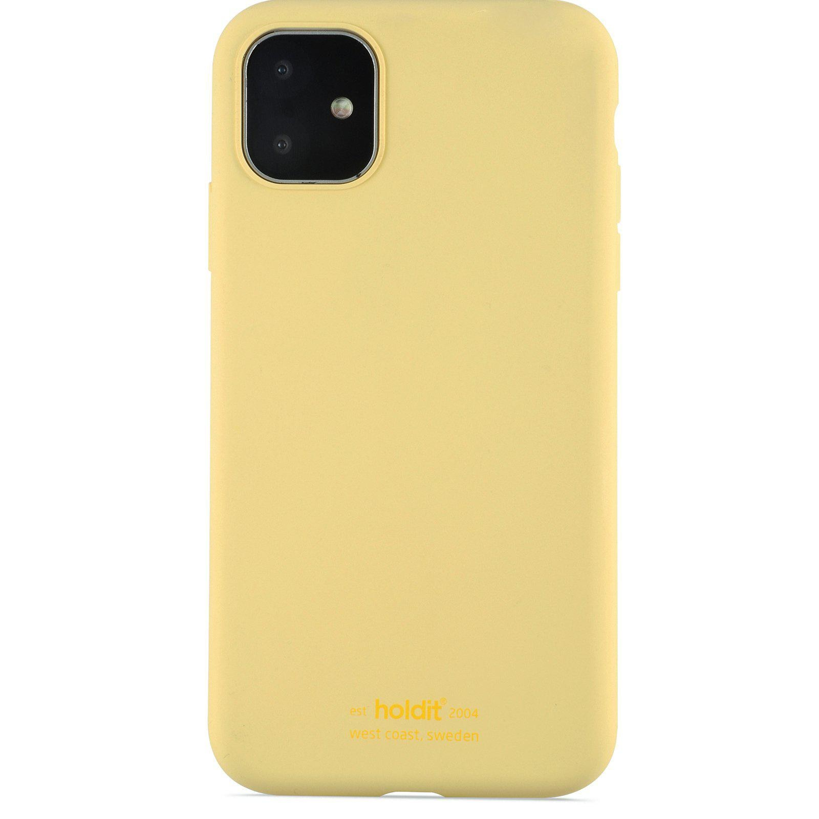 Silikonikuori iPhone 11/XR Yellow