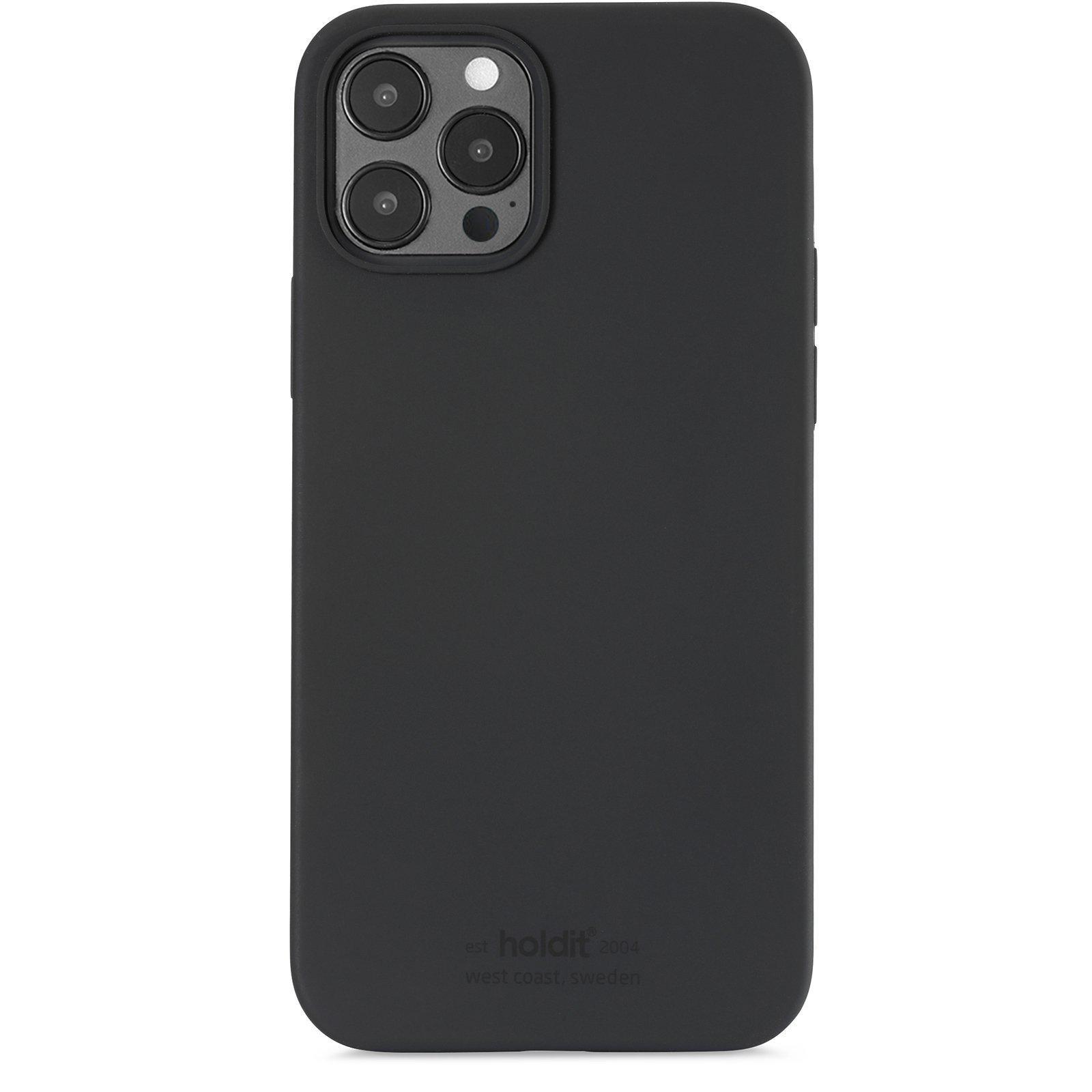 Silikonikuori iPhone 12/12 Pro Musta