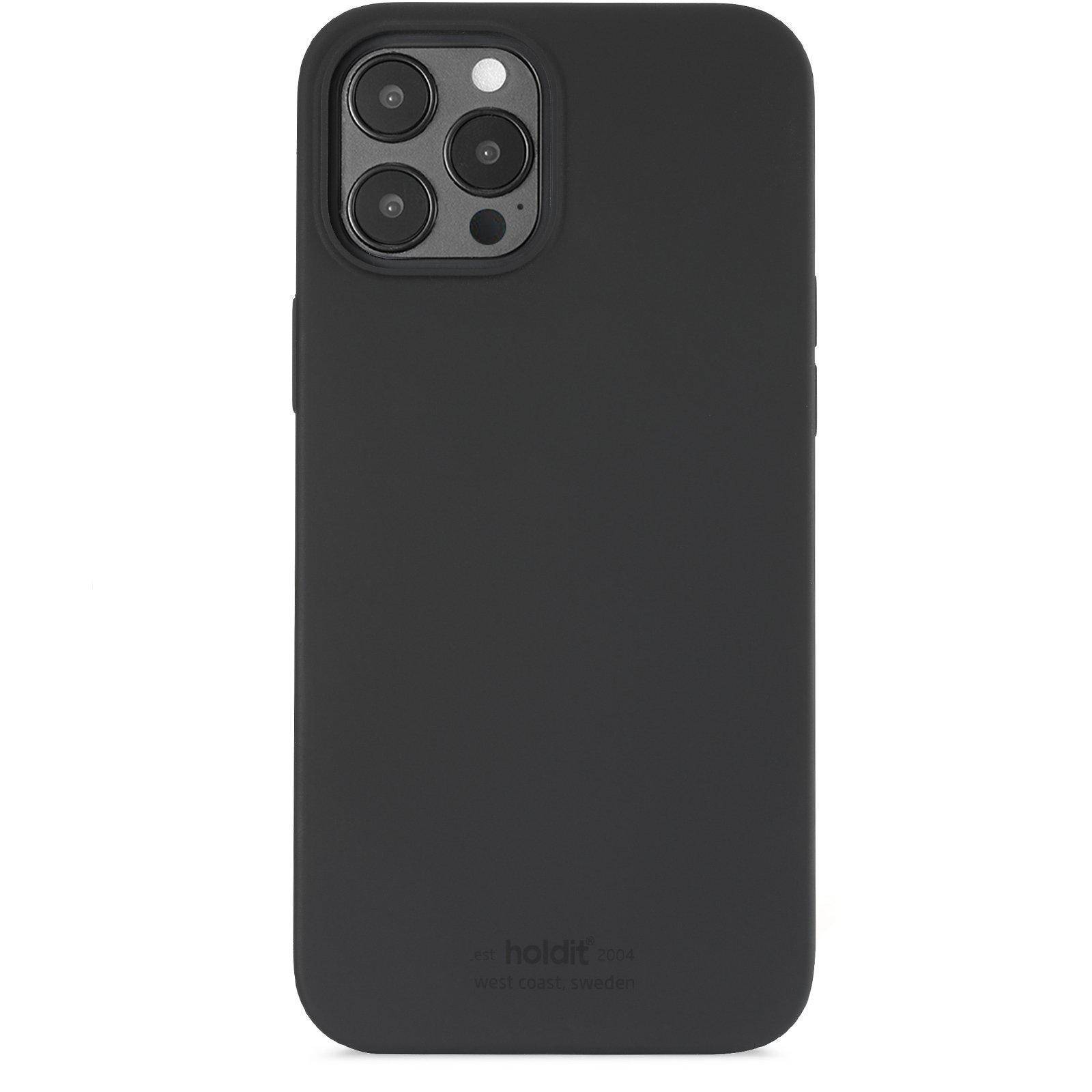 Silikonikuori iPhone 12 Pro Max Musta