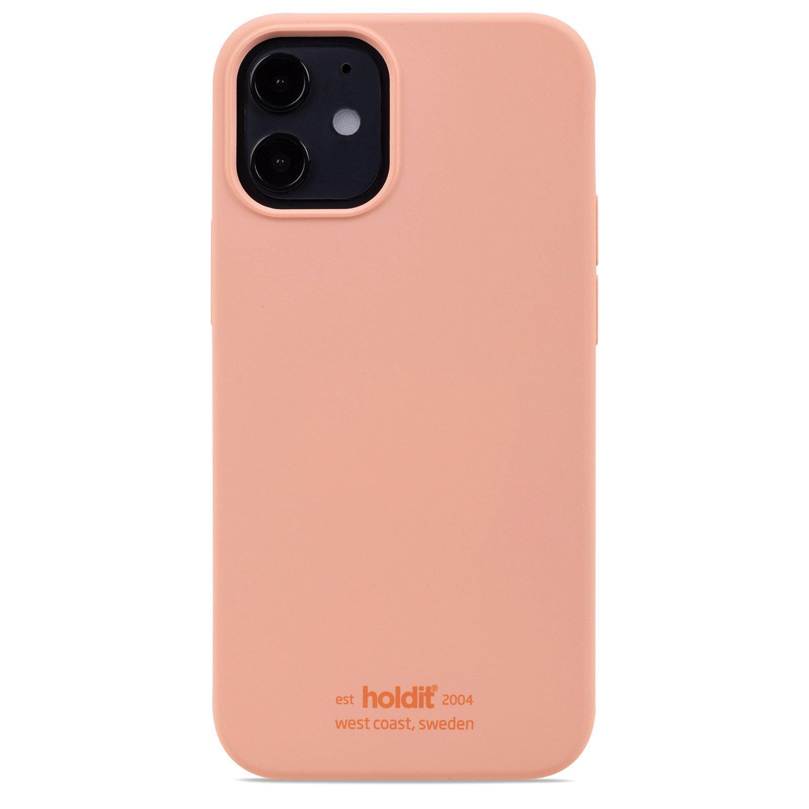 Silikonikuori iPhone 12 Mini Pink Peach