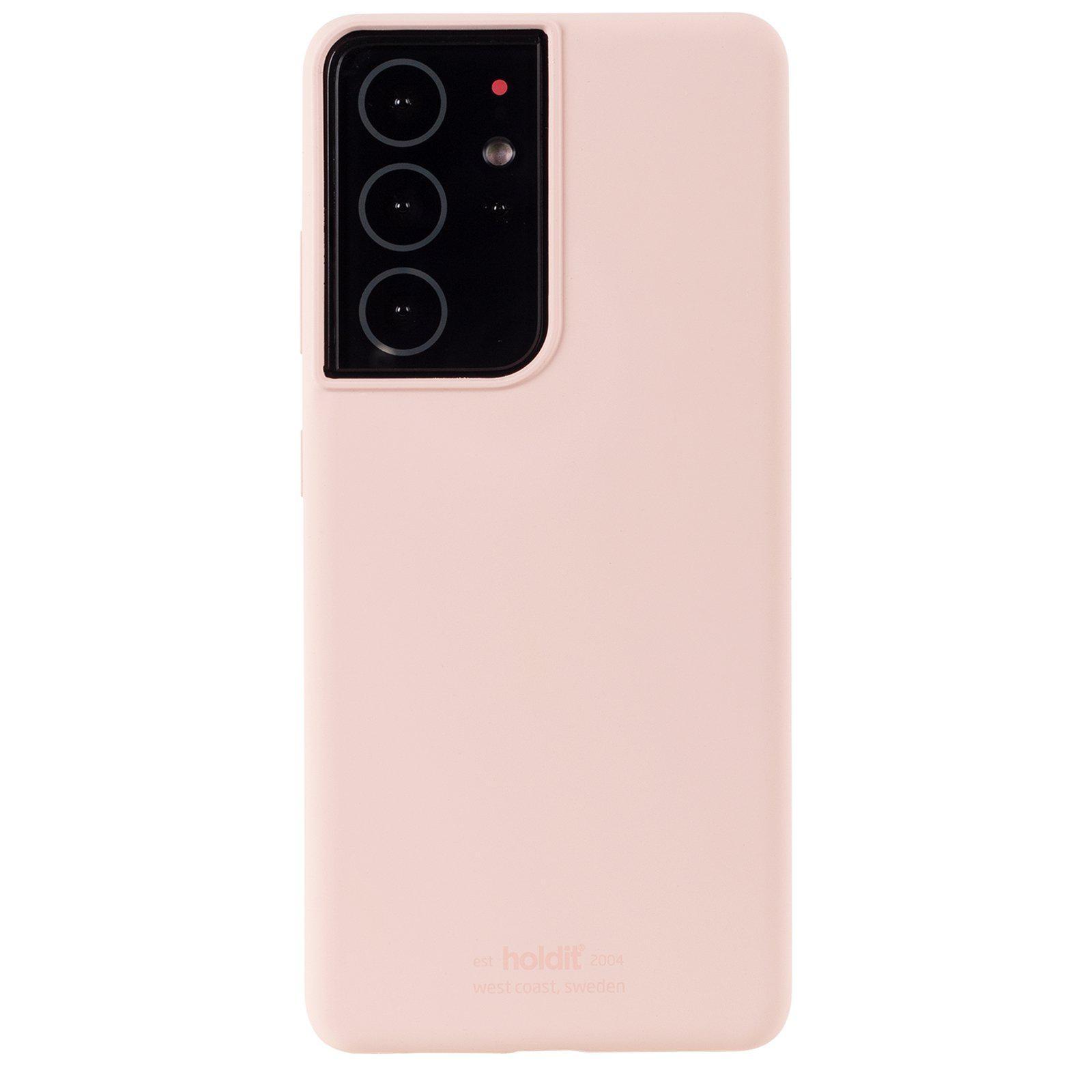 Silikonikuori Galaxy S21 Ultra Blush Pink