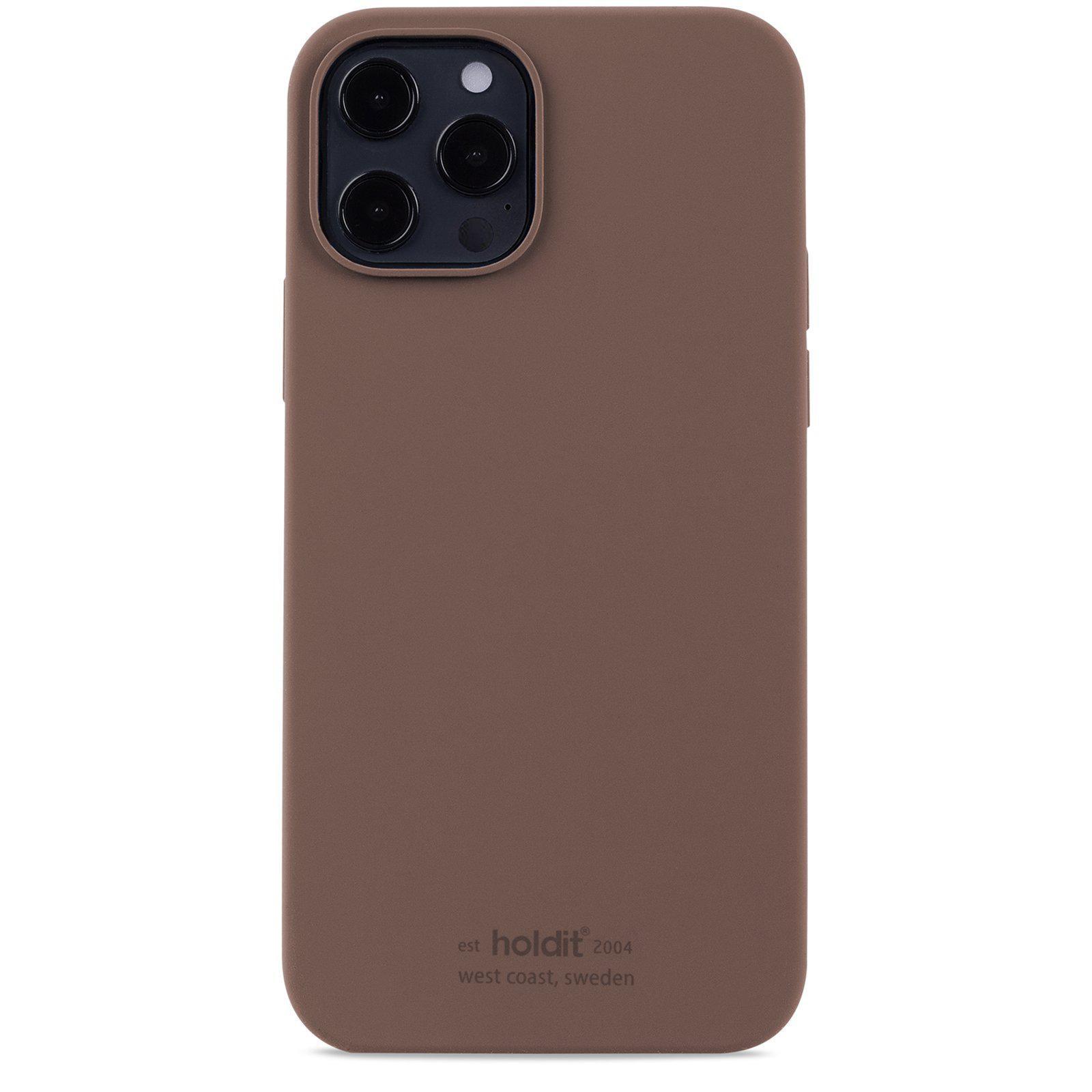 Silikonikuori iPhone 12/12 Pro Dark Brown