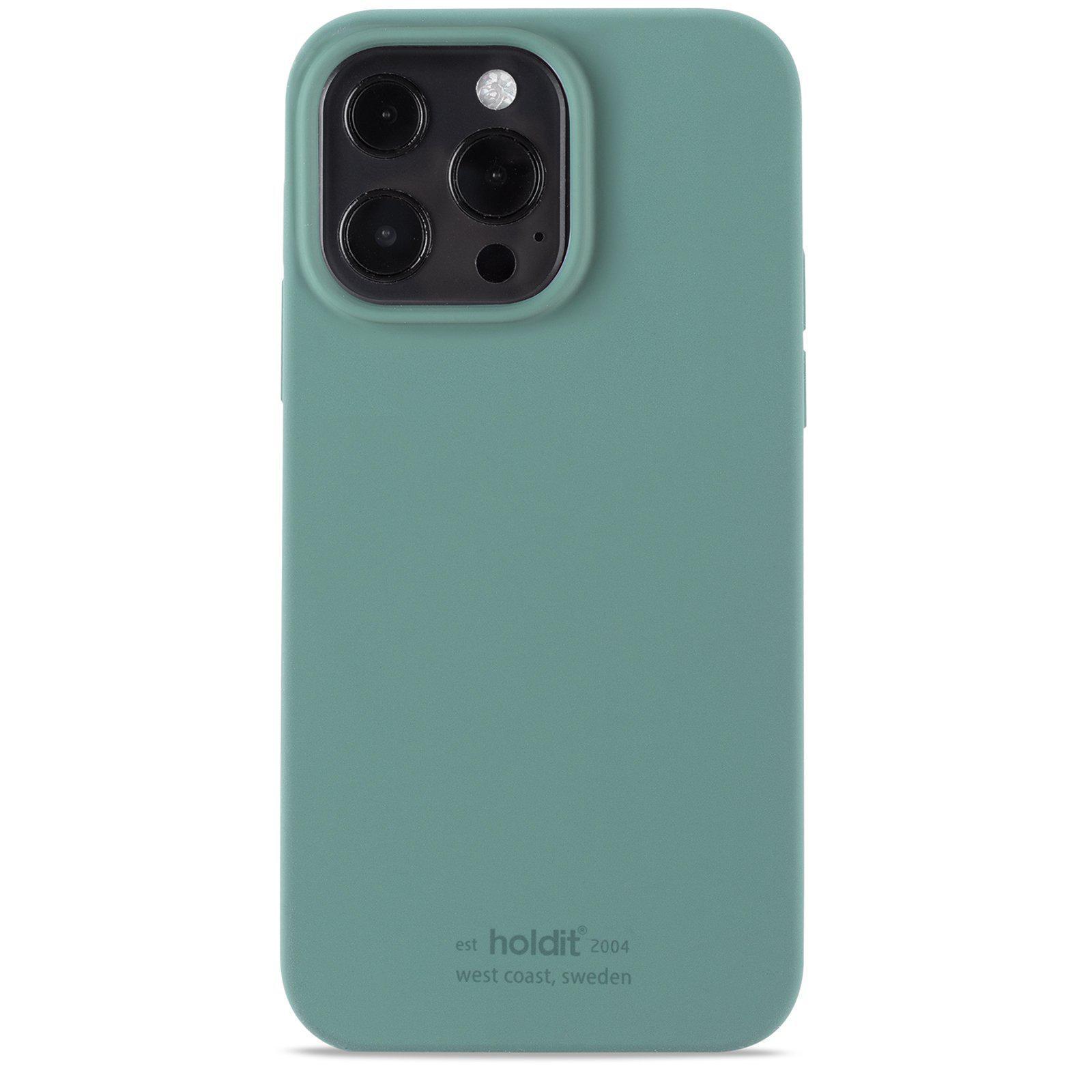 Silikonikuori iPhone 13 Pro Max Moss Green