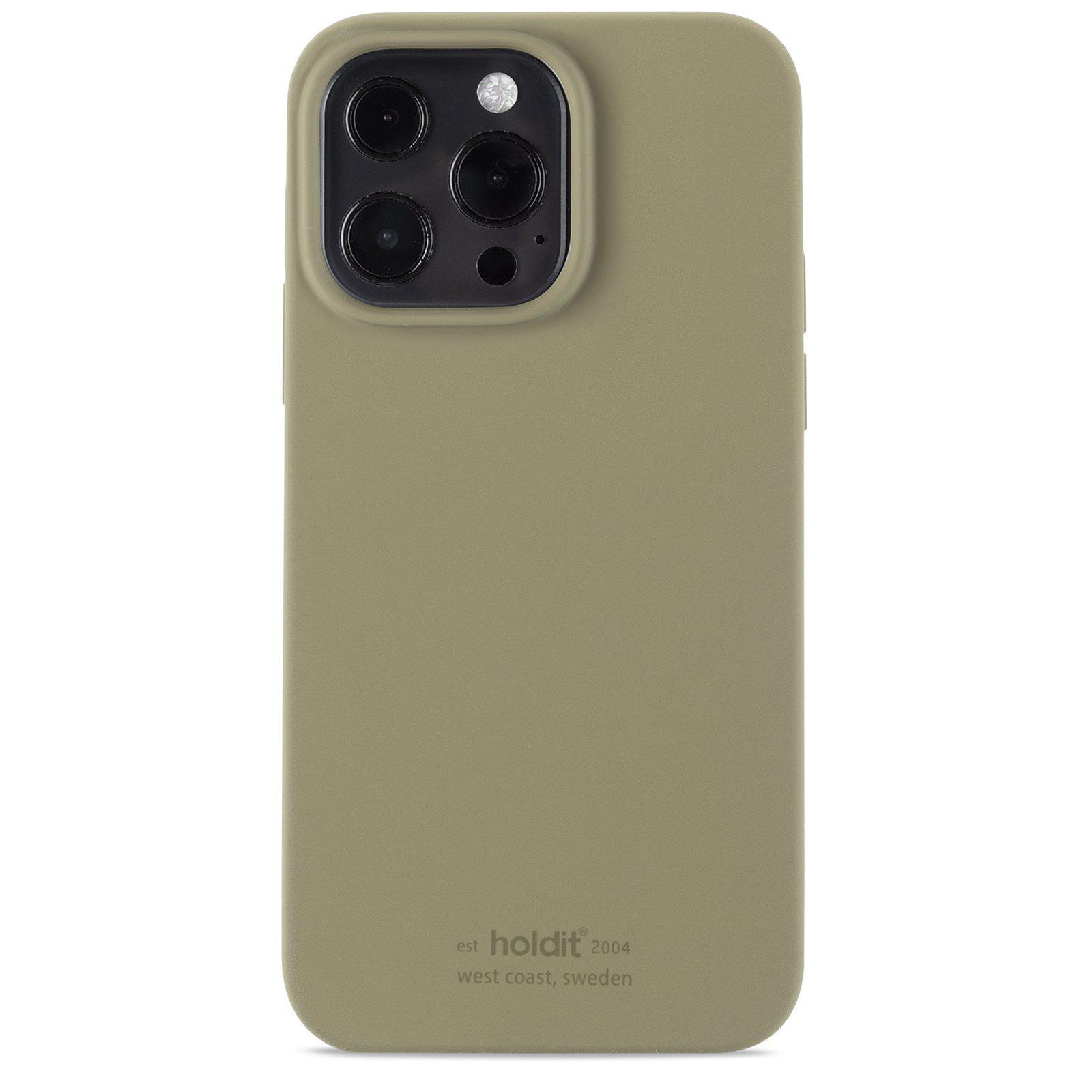 Silikonikuori iPhone 13 Pro Khaki Green