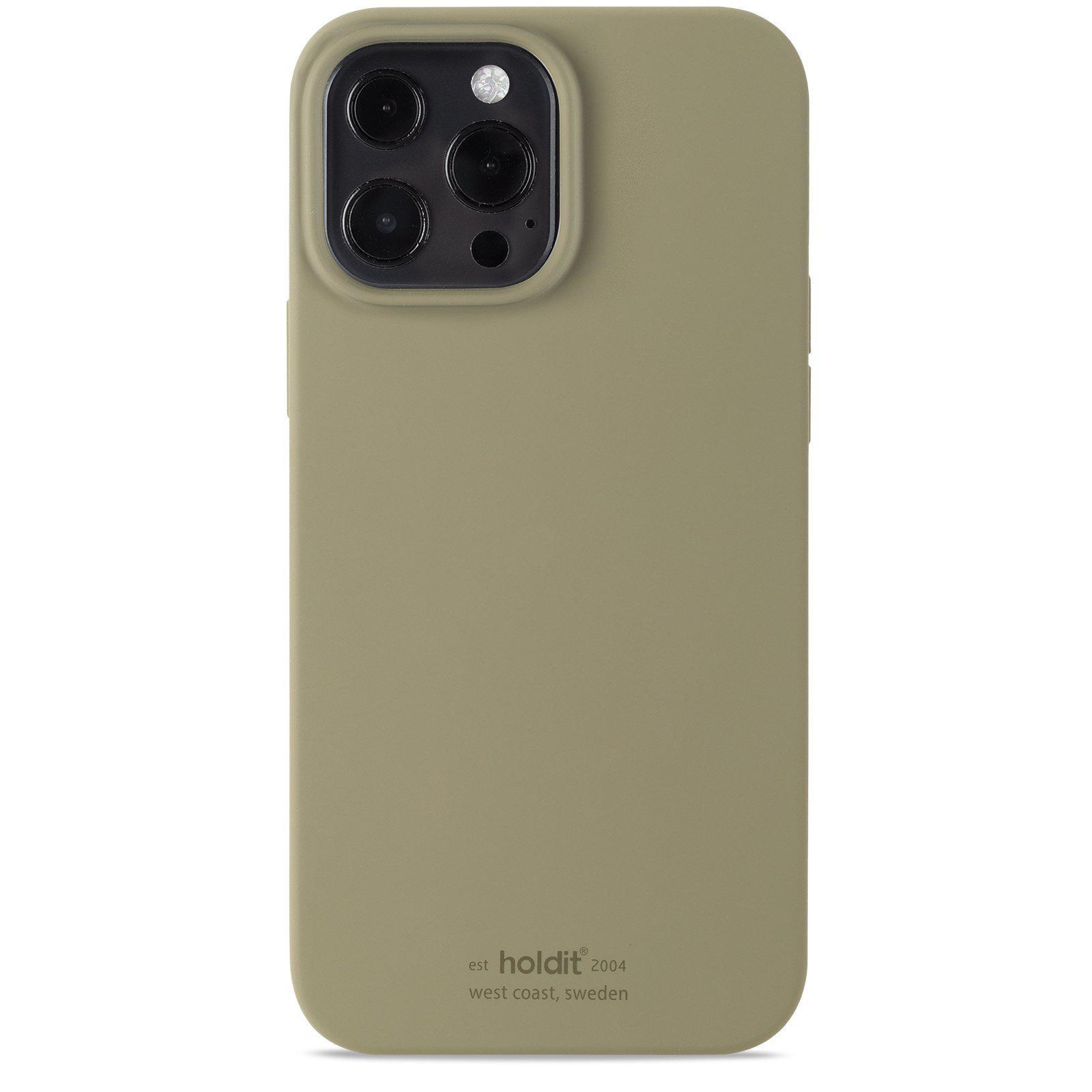 Silikonikuori iPhone 13 Pro Max Khaki Green