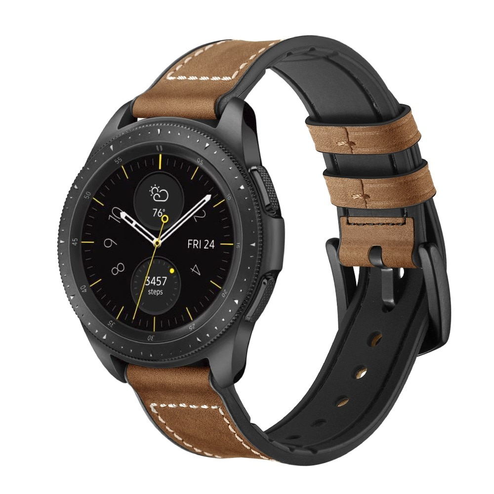 Premium Nahkaranneke Galaxy Watch 4 Classic 42/46 mm ruskea