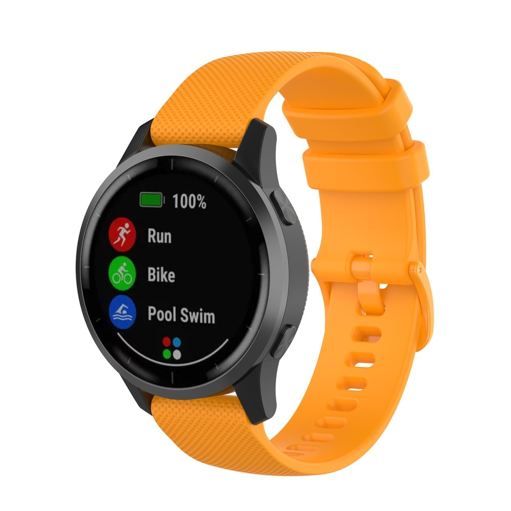 Silikoniranneke Garmin Vivoactive 4/Venu 2 oranssi