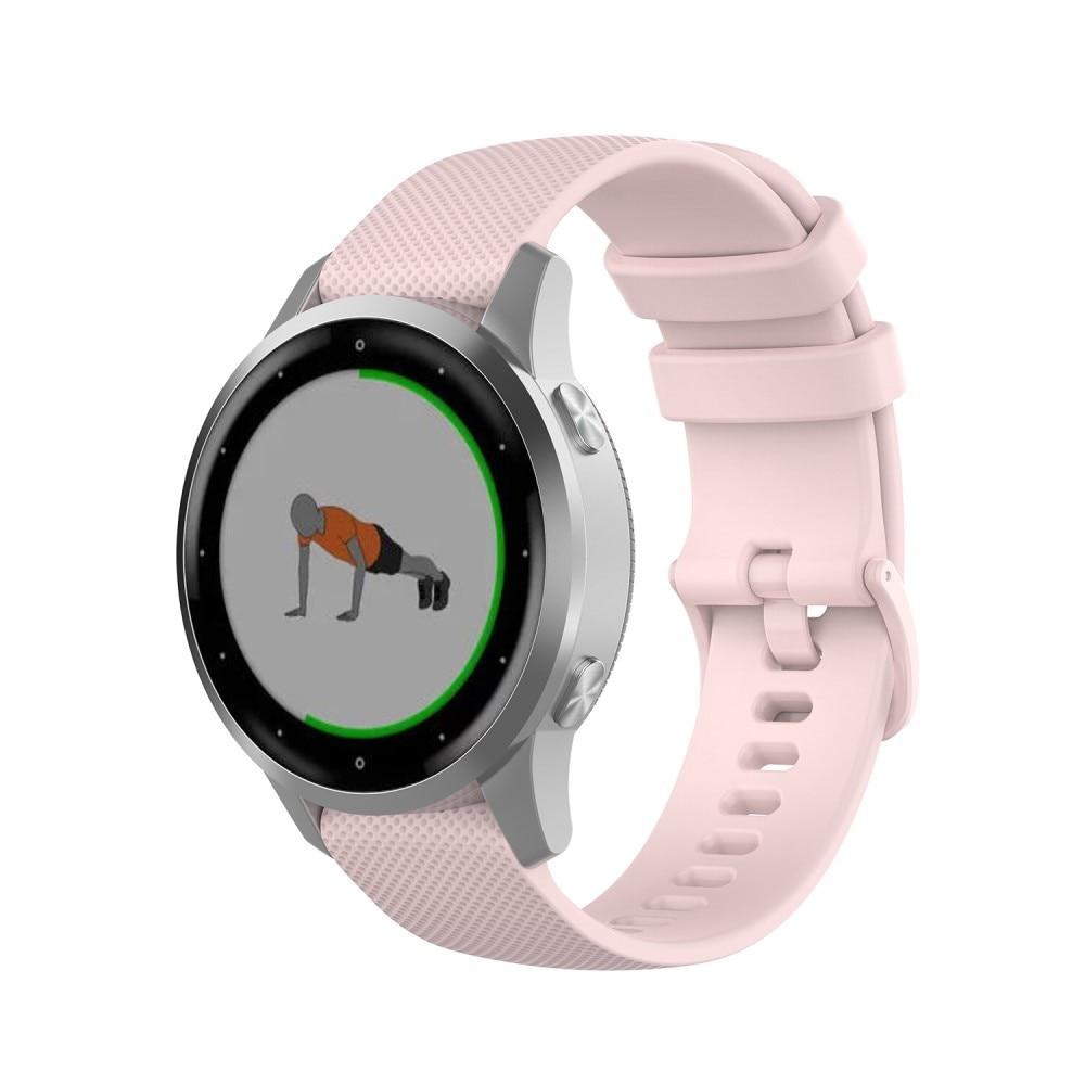 Silikoniranneke Garmin Vivoactive 4s/Venu 2s vaaleanpunainen