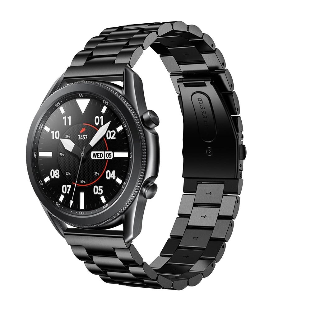 Metalliranneke Samsung Galaxy Watch 4 44mm/Classic 46mm musta