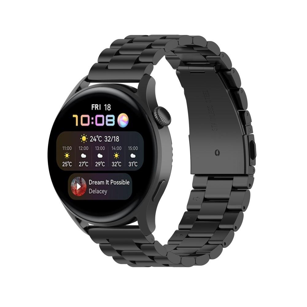 Metalliranneke Huawei Watch 3/3 Pro musta